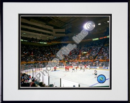 Buffalo Sabres Buffalo Memorial Auditorium Double Matted 8 X 10 Photograph in a Black Anodized Aluminum Frame