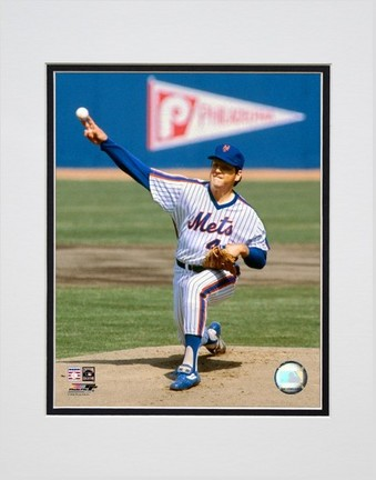 """Tom Seaver """"1963 Action"""" Double Matted 8"""" x 10"""" Photograph (Unframed)"""