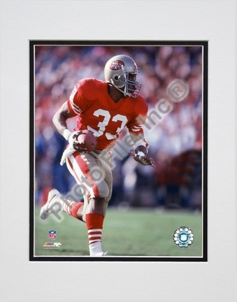"""Roger Craig """"Action - Close Up"""" Double Matted 8"""" X 10"""" Photograph (Unframed)"""