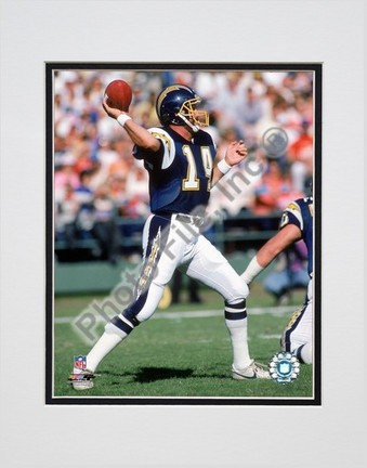 "Dan Fouts """"1987 Action"""" Double Matted 8"""" x 10"""" Photograph (Unframed)"" PHF-AAHV128-33"