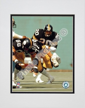 Rocky Bleier Action Double Matted 8 x 10 Photograph Unframed