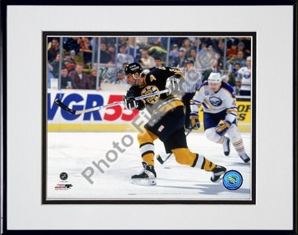 Cam Neely Action Double Matted 8 x 10 Photograph in a Black Anodized Aluminum Frame
