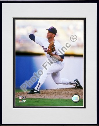 "Nolan Ryan ""1991 Action"" Double Matted 8"" x 10"" Photograph in a Black Anodized Aluminum Frame"
