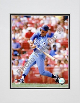 "George Brett ""1990 Batting Action"" Double Matted 8"" x 10"" Photograph (Unframed)"