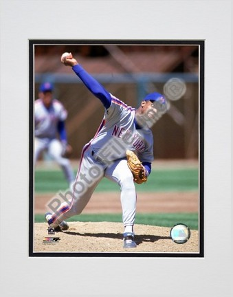 """Dwight Gooden """"1990 Action"""" Double Matted 8"""" x 10"""" Photograph (Unframed)"""