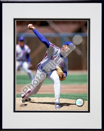 "Dwight Gooden ""1990 Action"" Double Matted 8"" x 10"" Photograph in a Black Anodized Aluminum Frame"