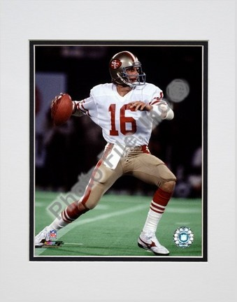 "Joe Montana ""Action"" Double Matted 8"" x 10"" Photograph (Unframed)"
