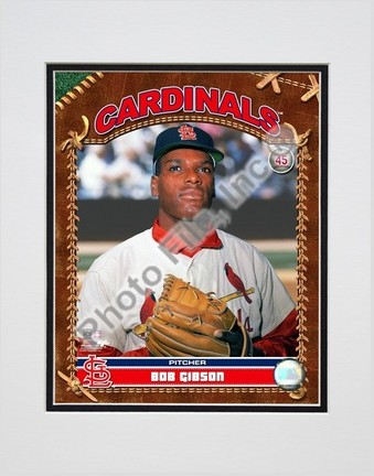 """Bob Gibson """"2007 Vintage Studio Plus"""" Double Matted 8"""" x 10"""" Photograph (Unframed)"""