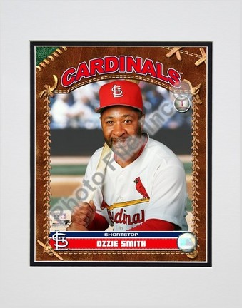 """Ozzie Smith """"Studio Plus"""" Double Matted 8"""" x 10"""" Photograph (Unframed)"""