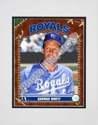 "George Brett ""2007 Vintage Studio Plus"" Double Matted 8"" x 10"" Photograph (Unframed)"