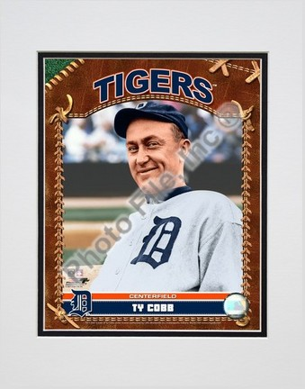 "Ty Cobb ""2007 Vintage Studio Plus"" Double Matted 8"" x 10"" Photograph (Unframed)"