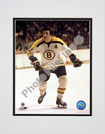 """Phil Esposito """"Boston Bruins Action"""" Double Matted 8"""" x 10"""" Photograph (Unframed)"""