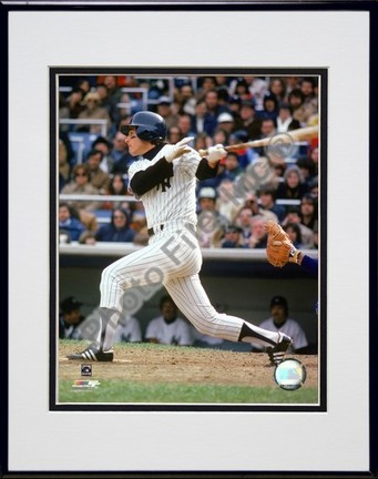 """Bucky Dent """"1979 Batting Action"""" Double Matted 8"""" x 10"""" Photograph in Black Anodized Aluminum Frame"""