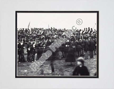 """Abraham Lincoln """"Gettysburg Address 1863"""" Double Matted 8"""" x 10"""" Photograph (Unframed)"""