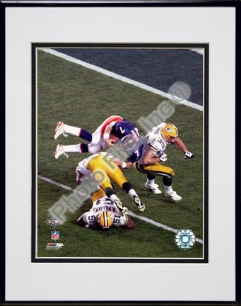 "John Elway ""1998 Action (Super Bowl XXXII )"" Double Matted 8"" x 10"" Photograph in Black Anodized Alu"