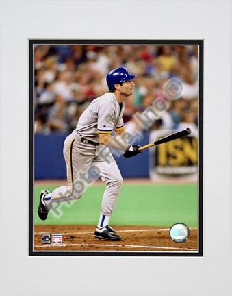 """Paul Molitor """"Batting Action"""" Double Matted 8"""" x 10"""" Photograph (Unframed)"""