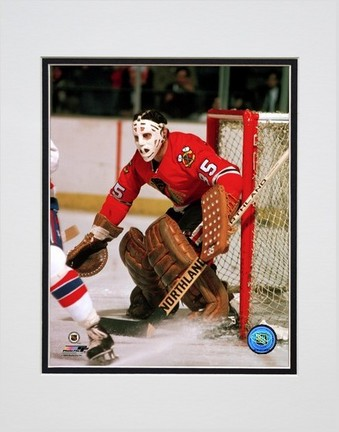 """Tony Esposito """"Action Red Jersey"""" Double Matted 8"""" x 10"""" Photograph (Unframed)"""