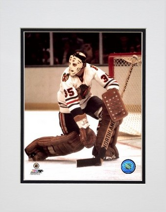 """Tony Esposito """"Action White Jersey"""" Double Matted 8"""" x 10"""" Photograph (Unframed)"""
