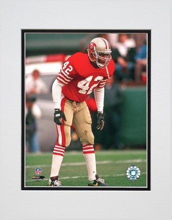 "Ronnie Lott """"Action"""" Double Matted 8� x 10� Photograph (Unframed)"" PHF-AAIH140-33"