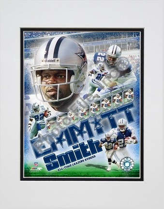 "Emmitt Smith ""2007 Legends Composite"" Double Matted 8"" x 10"" Photograph (Unframed)"