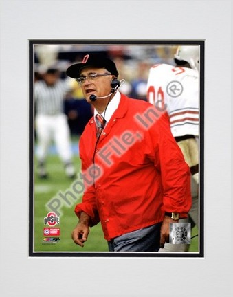 "Woody Hayes ""Ohio State Buckeyes (#2)"" Double Matted 8"" x 10"" Photograph (Unframed)"