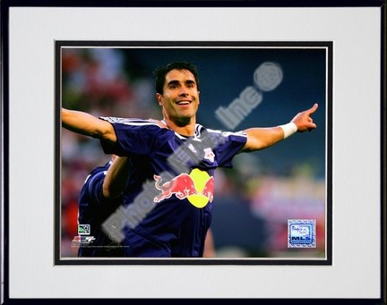 """Juan Pablo Angel """"2007 Action #14"""" Double Matted 8"""" x 10"""" Photograph in Black Anodized Aluminum Fram"""