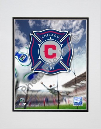 "Chicago Fire ""2007 Team Logo"" Double Matted 8"" x 10"" Photograph (Unframed)"