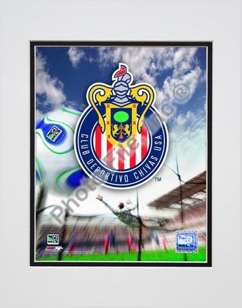 "Chivas USA Club Deportivo """"2007 Team Logo"""" Double Matted 8"""" x 10"""" Photograph (Unframed)"" PHF-AAIO066-33"