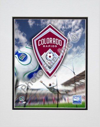 "Colorado Rapids ""2007 Team Logo"" Double Matted 8"" x 10"" Photograph (Unframed)"