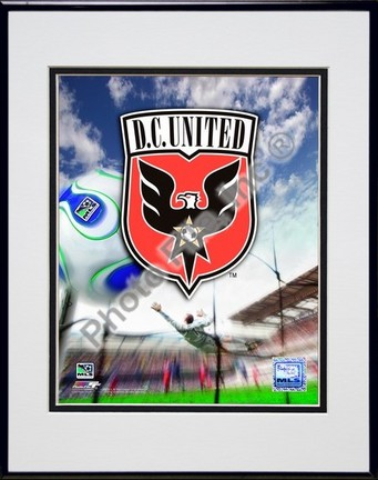 """D.C. United """"2007 Team Logo"""" Double Matted 8"""" x 10"""" Photograph in Black Anodized Aluminum Frame"""