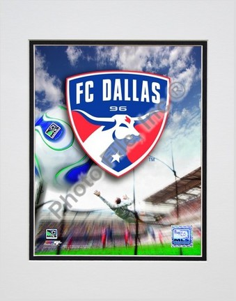 "FC Dallas ""2007 Team Logo"" Double Matted 8"" x 10"" Photograph (Unframed)"