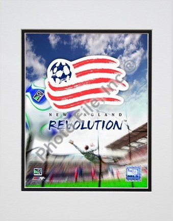"New England Revolution """"2007 Team Logo """" Double Matted 8"""" x 10"""" Photograph (Unframed)"" PHF-AAIO073-33"