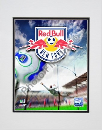 "New York Red Bulls ""2007 Team Logo"" Double Matted 8"" x 10"" Photograph (Unframed)"