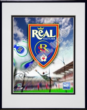 """Real Salt Lake """"2007 Team Logo"""" Double Matted 8"""" x 10"""" Photograph in Black Anodized Aluminum Frame"""