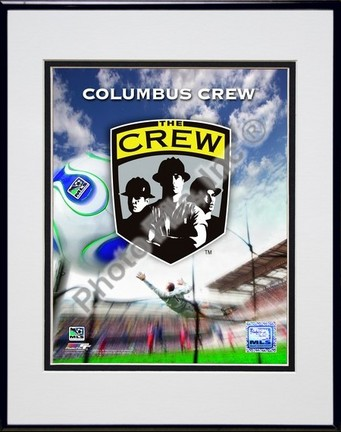 """Columbas Crew """"2007 Team Logo"""" Double Matted 8"""" x 10"""" Photograph in Black Anodized Aluminum Frame"""