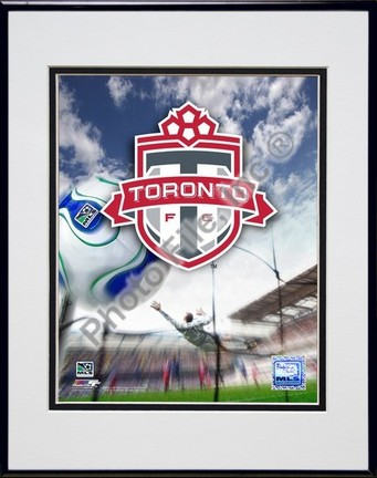 """Toronto FC """"2007 Team Logo"""" Double Matted 8"""" x 10"""" Photograph in Black Anodized Aluminum Frame"""