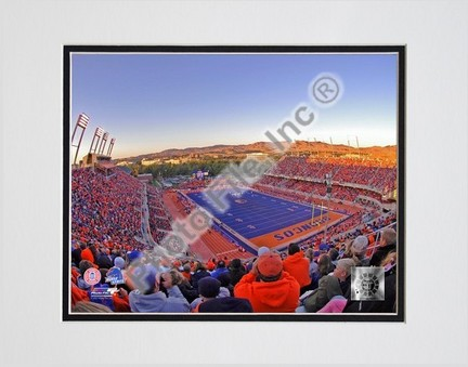 """Boise State Broncos """"Bronco Stadium"""" Double Matted 8″ x 10″ Photograph (Unframed)"""
