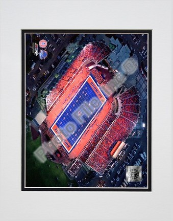 """Boise State Broncos """"Bronco Stadium (Horizontal)"""" Double Matted 8″ x 10″ Photograph (Unframed)"""