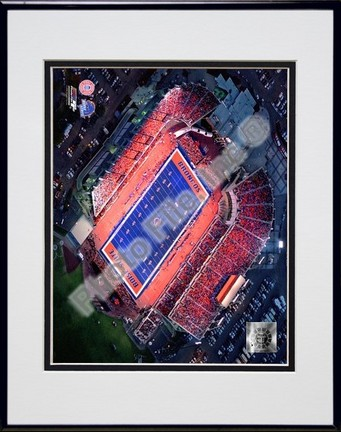 "Boise State Broncos ""Bronco Stadium (Horizontal)"" Double Matted 8″ x 10″ Photograph in Black Anodized Aluminum Frame"