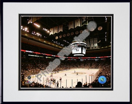 """TD Banknorth Garden """"""""2006 - 2007 NHL"""""""" Double Matted 8"""""""" x 10"""""""" Photograph in Black Anodized Aluminum Frame"""" PHF-AAIO226-37"""