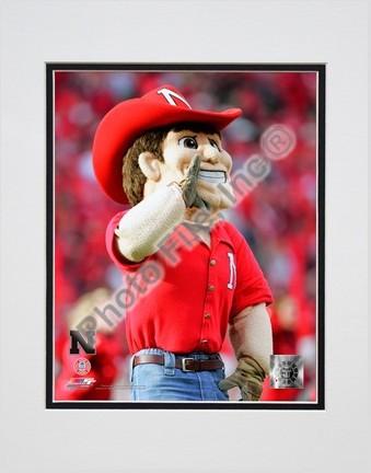 "University of Nebraska ""Herbie Husker, Cornhuskers Mascot 2006"" Double Matted 8"" x 10"" Photograph (Unframe"