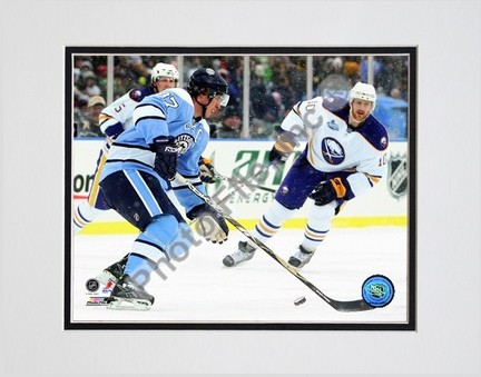 """Sidney Crosby """"""""2008 Winter Classic #1"""""""" Double Matted 8"""""""" x 10"""""""" Photograph (Unframed)"""" PHF-AAJE040-33"""
