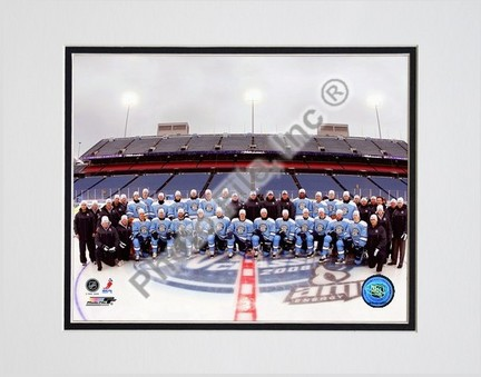 """Pittsburgh Penguins """"2008 Winter Classic"""" Double Matted 8"""" x 10"""" Photograph (Unframed)"""