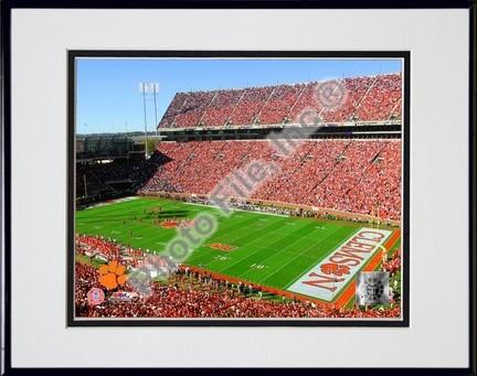 "Memorial Stadium ""2006 Clemson University"" Double Matted 8"" x 10"" Photograph In Black Anodized Alumi"