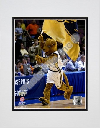 """University of Pittsburgh """"Panthers Mascot, 2004"""" Double Matted 8"""" x 10"""" Photograph (Unframed)"""
