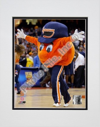"""Otto the Syracuse """"Orangemen Mascot 2004"""" Double Matted 8"""" x 10"""" Photograph (Unframed)"""