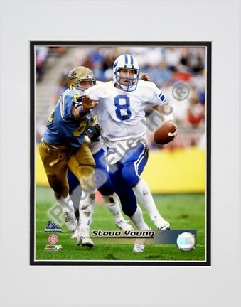 """Steve Young """"Brigham Young University Action"""" Double Matted 8"""" x 10"""" Photograph (Unframed)"""