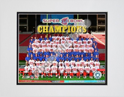 """The New York Giants """"2007 team photo (#83)"""" Double Matted 8"""" x 10"""" Photograph (Unframed)"""