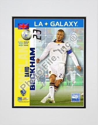 """David Beckham """"2008 International Series(#95)"""" Double Matted 8"""" x 10"""" Photograph (Unframed)"""