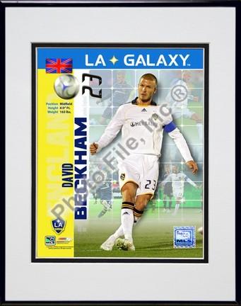 "David Beckham ""2008 International Series(#95)"" Double Matted 8"" x 10"" Photograph in Black Anodized Aluminu"